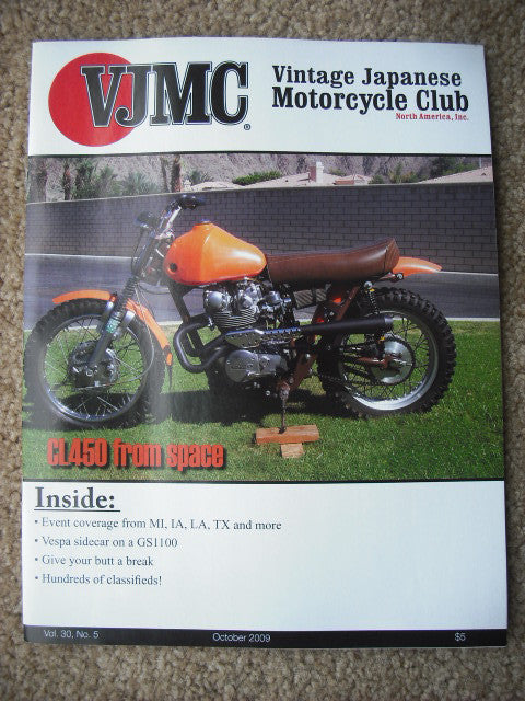 VJMC Magazine Honda CL450 Customized October 2009