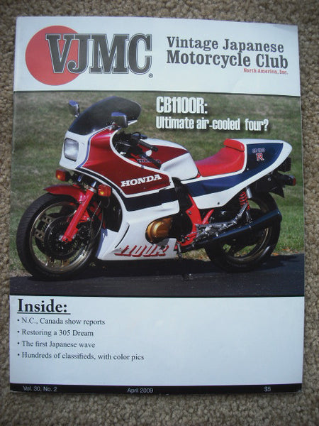 VJMC Magazine Honda CB1100R April 2009