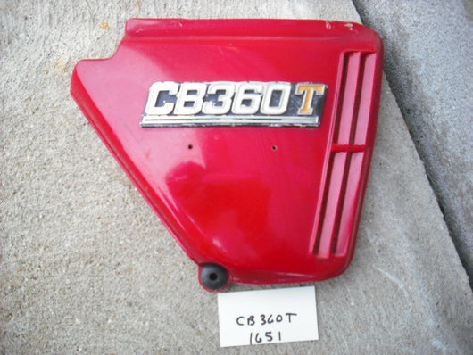 Honda CB360T Red Right Sidecover