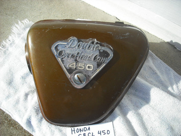 Honda CB450 CB450 sidecover left Candy Garnet Brown 3392