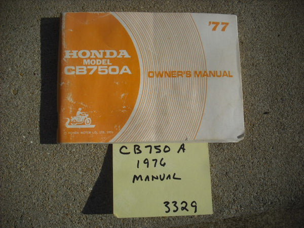 Honda CB750A Owners Manual 1977 Automatic 3329