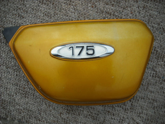 Honda CB175 CL175 K4 K5 Gold Right Sidecover with badge