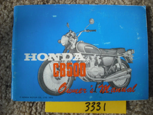 Honda CB500 Four K1 1972 Owners manual 3331