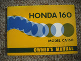 Honda CA160  Owners Manual NOS New
