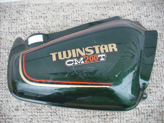 Honda CM200T Twin Star Candy Holly Green Right sidecover 83540-419-000 sku 3477