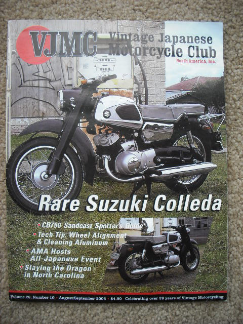 VJMC Magazine Suzuki Colleda 250TA  August 2006