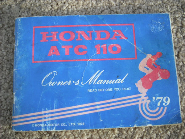 Honda ATC110 Owners Manual sku1484