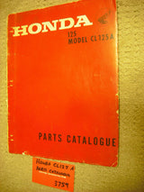 Honda CL125A Parts Manual OEM Original  3759