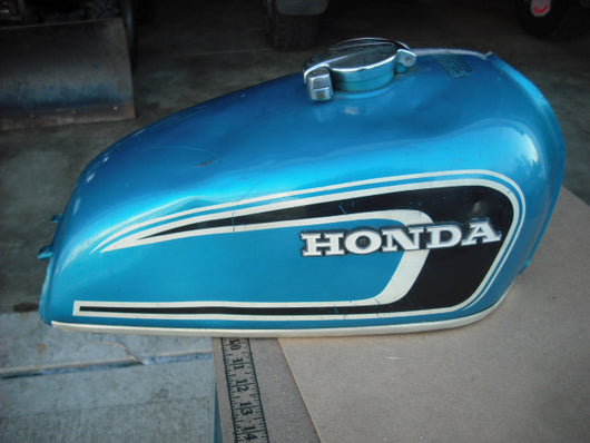Honda CB360T Gas Tank Candy Rivera Blue 3766