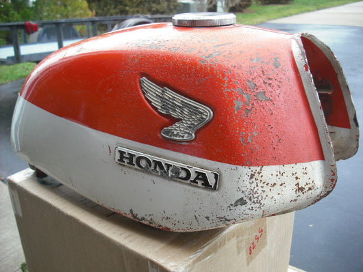 sold Honda CL350K0 Daytona Orange Gas Tank