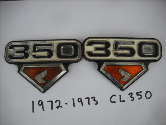 Honda CB350 CL350 K4 K5 Badge Pair