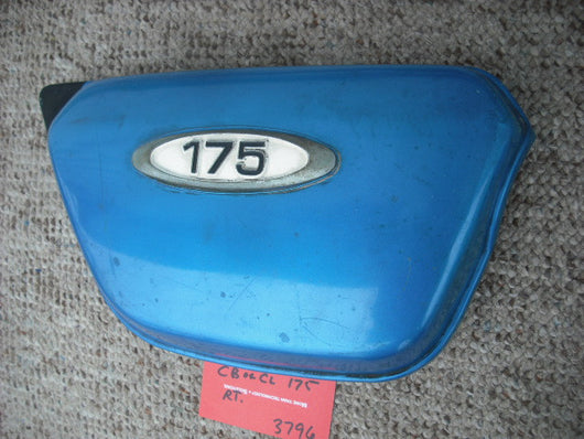 Sold Honda CB175  CL175 Right  blue sidecover  part no 17231-315-000
