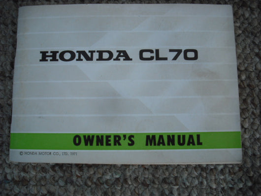 Honda CL70 K3 1971 NOS Manual 3776