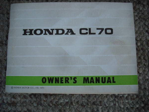 owners manuals and literature classic esemotorcycles honda cl70 k3 1971 nos manual 3776