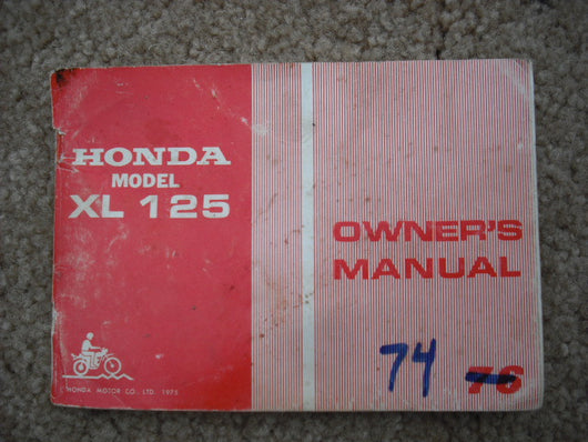Honda XL125 K2 Owners Manual sku 1483