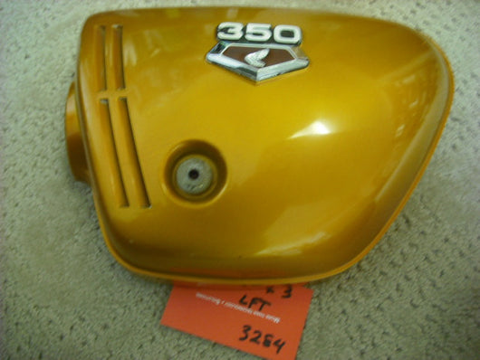 Honda CB350K3 lft  Candy Gold sidecover with badge