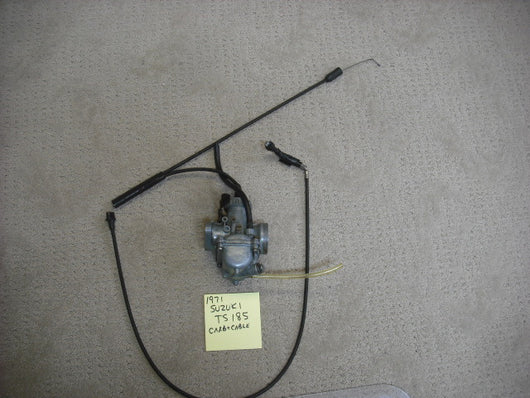Suzuki TS185 Carburetor Complete with cable