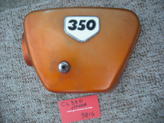 Honda CL350K2 1970 Candy Topaz Orange Left Sidecover 3816