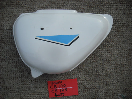 Honda CB100 or CB125  New White left Sidecover  4548