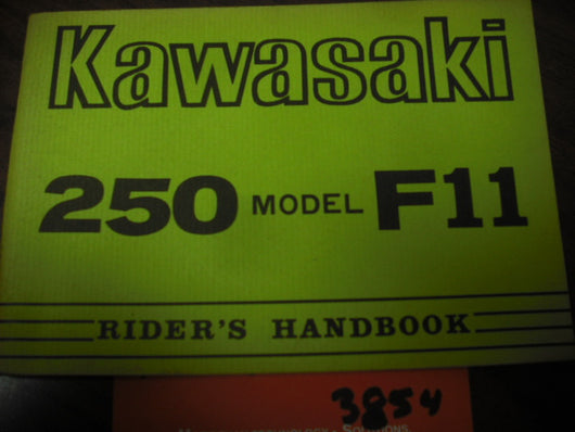 Kawasaki F11 250 Manual 1972  part 99997-538 sku 3854