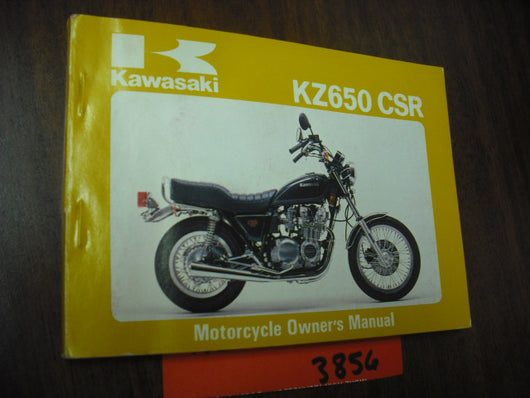 Kawasaki KZ650CSR owners manual 1980 part 99920-1108-02 sku 3856