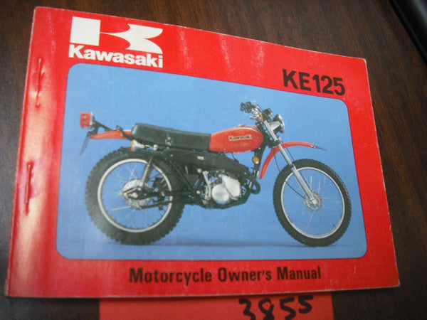 Kawasaki KE125A6 Owners manual 1978 part 9920-1044-01 sku 3855
