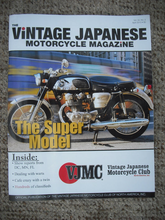 VJMC Magazine  Honda CB450 K0 Black Bomber  April 2013