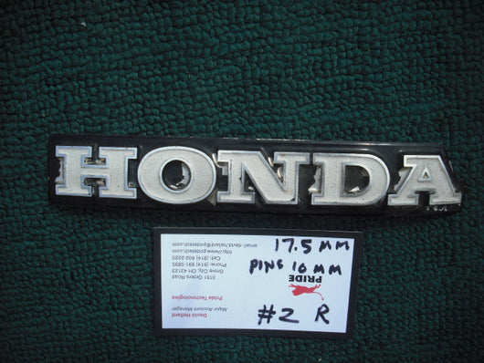Honda CB Gas Tank Badge 1142