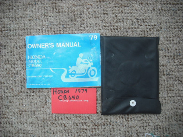 Honda CB650 1979 Owners Manual sku 3875