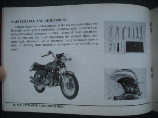 Sold on Ebay 6/2/16 by invoice Kawasaki 250 S1 350S2 Triples Manual 99997-546 sku 3921