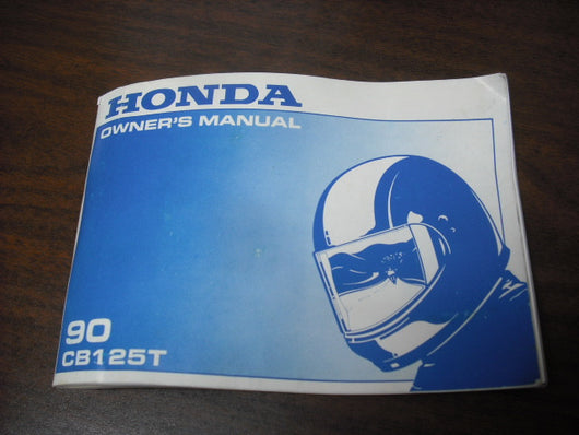 Honda CB125T Owners Manual