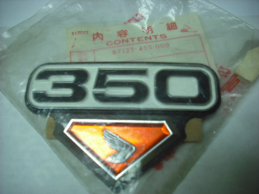 Honda CB350 CL350 Right NOS Sidecover Badge 87125-455-000