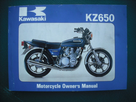 Kawasaki KZ650F1  Owners Manual 99920-1090-01 sku 3924
