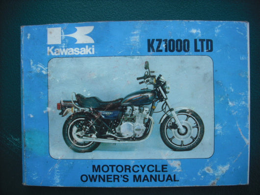 Kawasaki KZ1000 LTD B1 Owners manual 99964-0007-01  3925
