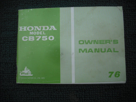 Honda CB750 1976 Owners Manual