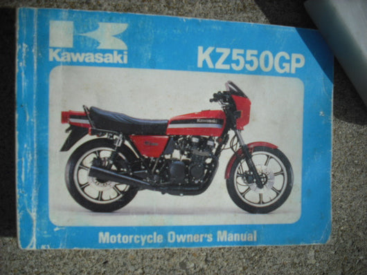 Kawasaki KZ550GP Owners Manual  99920-1109-01 sku 3906