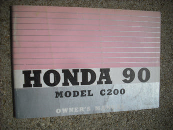 Honda C200 90cc Benly Owners Manual 3905