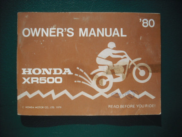 Honda XR500 1980 Owners Manual 3938