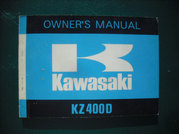Kawasaki KZ400D Owners Manual 99997-826 sku 3927