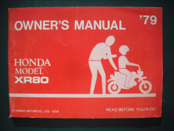 Honda  XR80 1979 NOS Manual 3937