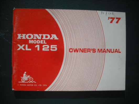 Honda XL125 1976 Manual 3932