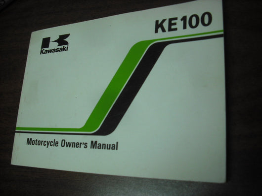 Kawasaki KE100--B2 1982 Owners Manual 9920-1209-01