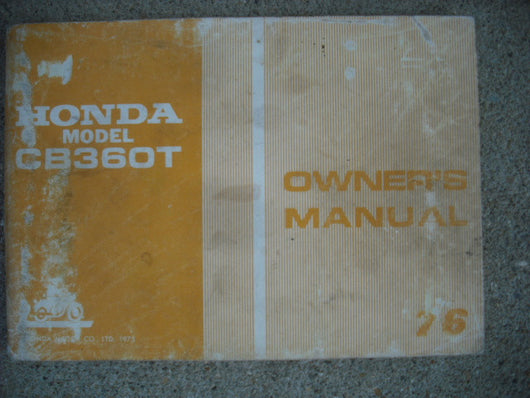 Honda CB360T 1976 Owners Manual 1583