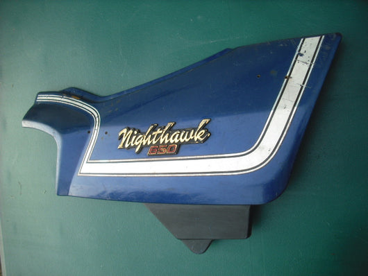 Sold Honda 650 Nighthawk Blue Rt Sidecover 8663A-460P-8400