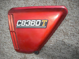 Honda CB360T left  Light Ruby Red Sidecover