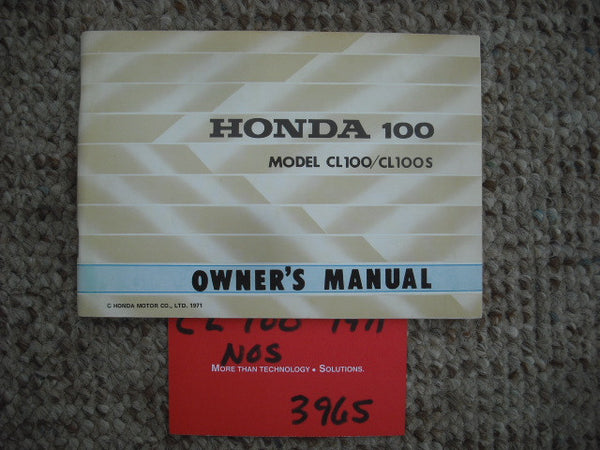Honda  CL100 K2 NOS Manual 3965