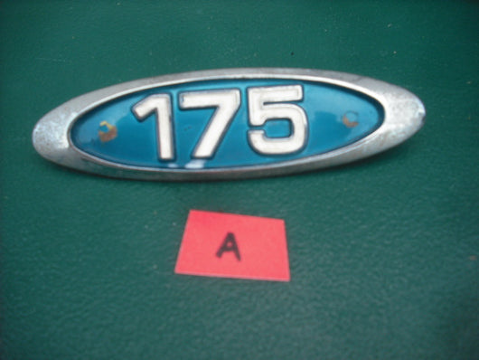 Sold Honda CL175K3  CB175 Blue Sidecover Badge A