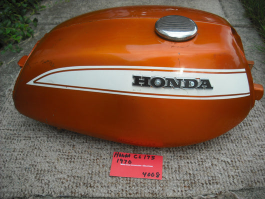 Honda CL175 Gas Tank Candy Topaz Orange 4008