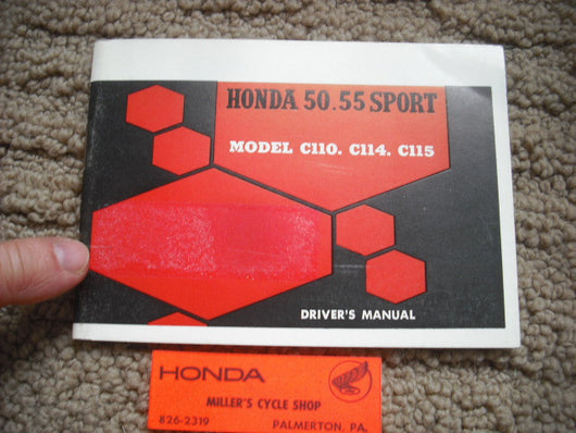 Honda Sport 50 C110 C114, C115 NOS New Manual sku 5679