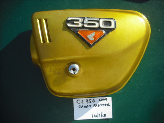 Sold Honda CL350 Candy Panther Gold Left Sidecover